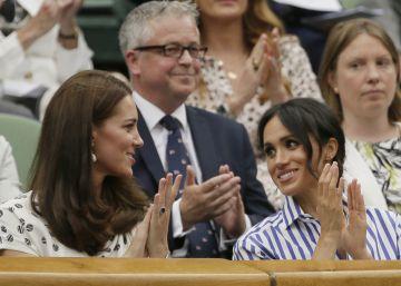 Kate Middleton y Meghan Markle en Wimbledon, su primer acto en solitario