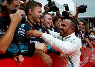 Hamilton gana el GP de Alemania de F1, en imágenes