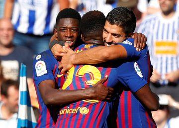 Real Sociedad - Barcelona, el partido de La Liga en imágenes