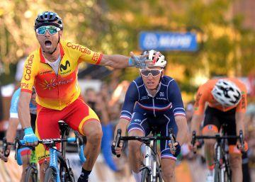 Alejandro Valverde, campeón del mundo de ciclismo en Innsbruck