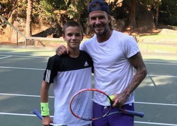 Los Beckham invierten para convertir a su hijo Romeo en un campeón de tenis