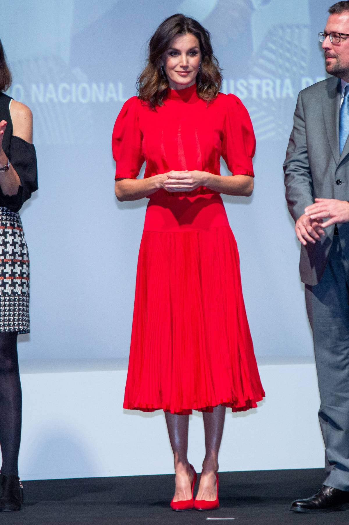 319547bca La reina Letizia lleva un vestido que se puso doña Sofía en 1982 ...