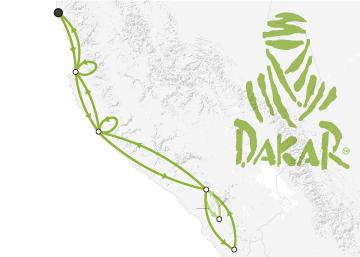 Recorrido y participantes del Rally Dakar 2019