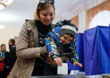 Las elecciones generales en Ucrania, en imágenes