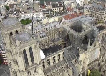 Notre Dame desde el cielo