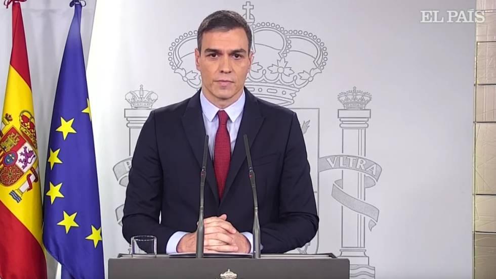 Vídeo: Estado de alarma: la comparecencia íntegra de Pedro Sánchez |  Actualidad | EL PAÍS