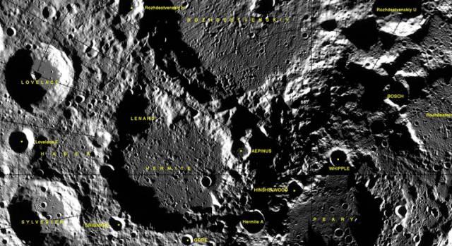 Dos científicos nazis pierden sus cráteres en la cara oculta de la Luna