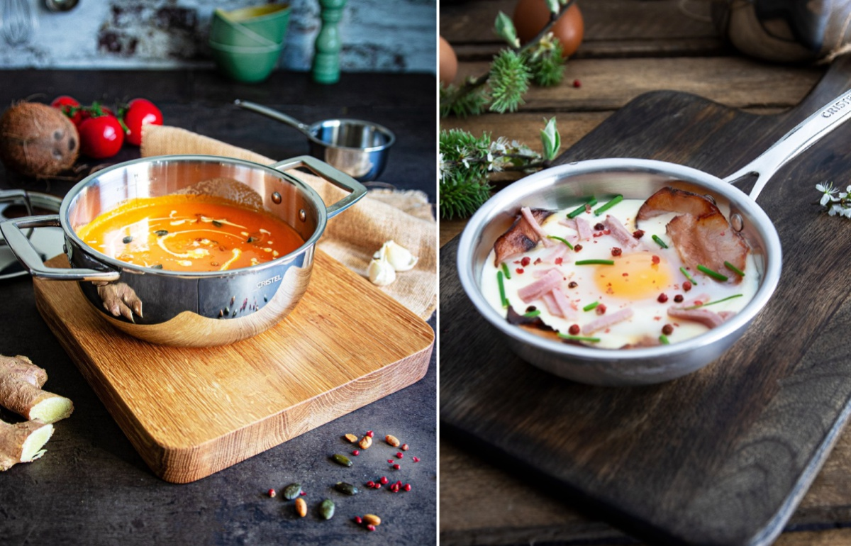 Ollas y sartenes de acero inoxidable, avaladas por grandes chefs, para crear en casa experiencias únicas