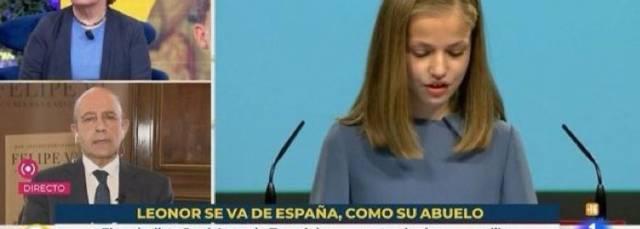 TVE releva a los responsables de un polémico rótulo sobre la princesa de Asturias: 'Leonor se va de España, como su abuelo'