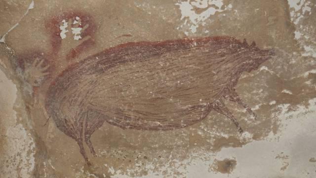 La pintura de un jabalí de hace 45.500 años es la obra de arte figurativo más antigua del mundo
