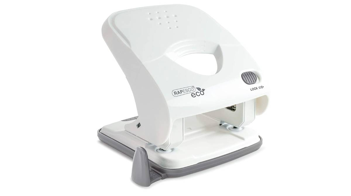 Perforadora de dos agujeros en color blanco por 12,40 €