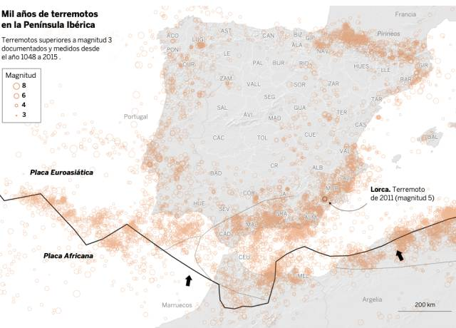 El estremecedor 'beso' geológico que pone en riesgo sísmico a 14 millones de españoles