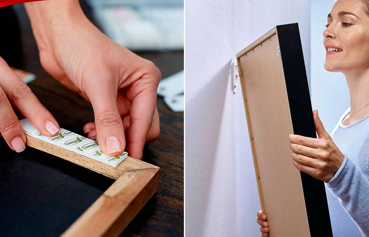 Siete soluciones para colgar cuadros y otros objetos sin taladrar ni hacer agujeros