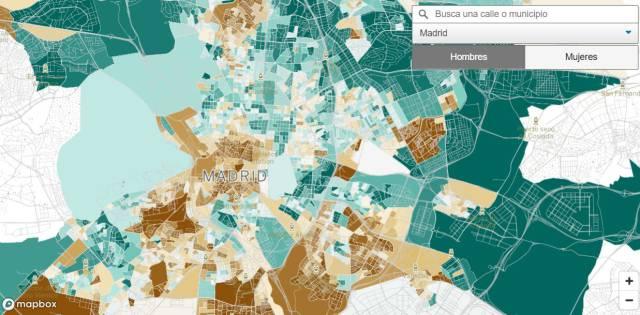 El mapa de la mortalidad barrio a barrio en España revela enormes desigualdades incluso en la misma calle