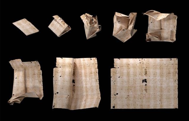 Cartas selladas de la Europa del siglo XVII han sido leídas por primera vez sin ser abiertas