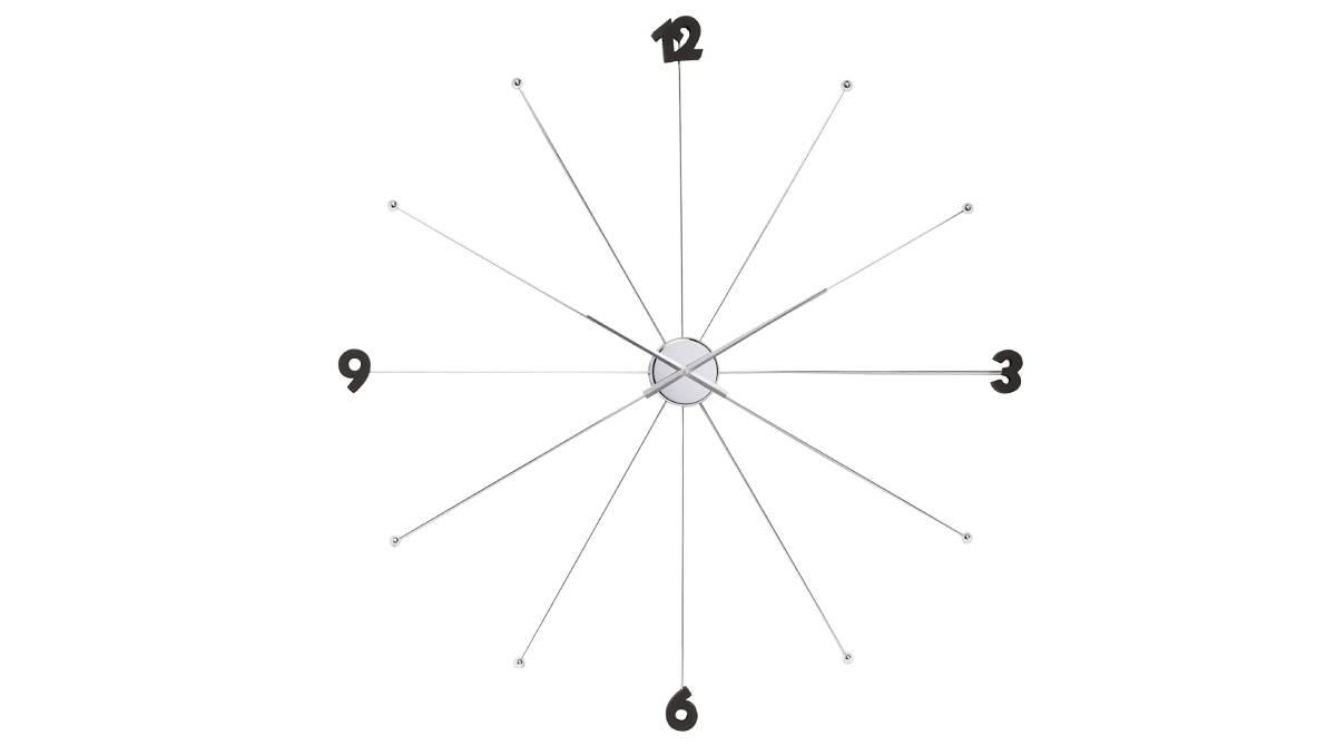 Reloj de pared metálico con cifras en negro por 27,55 €