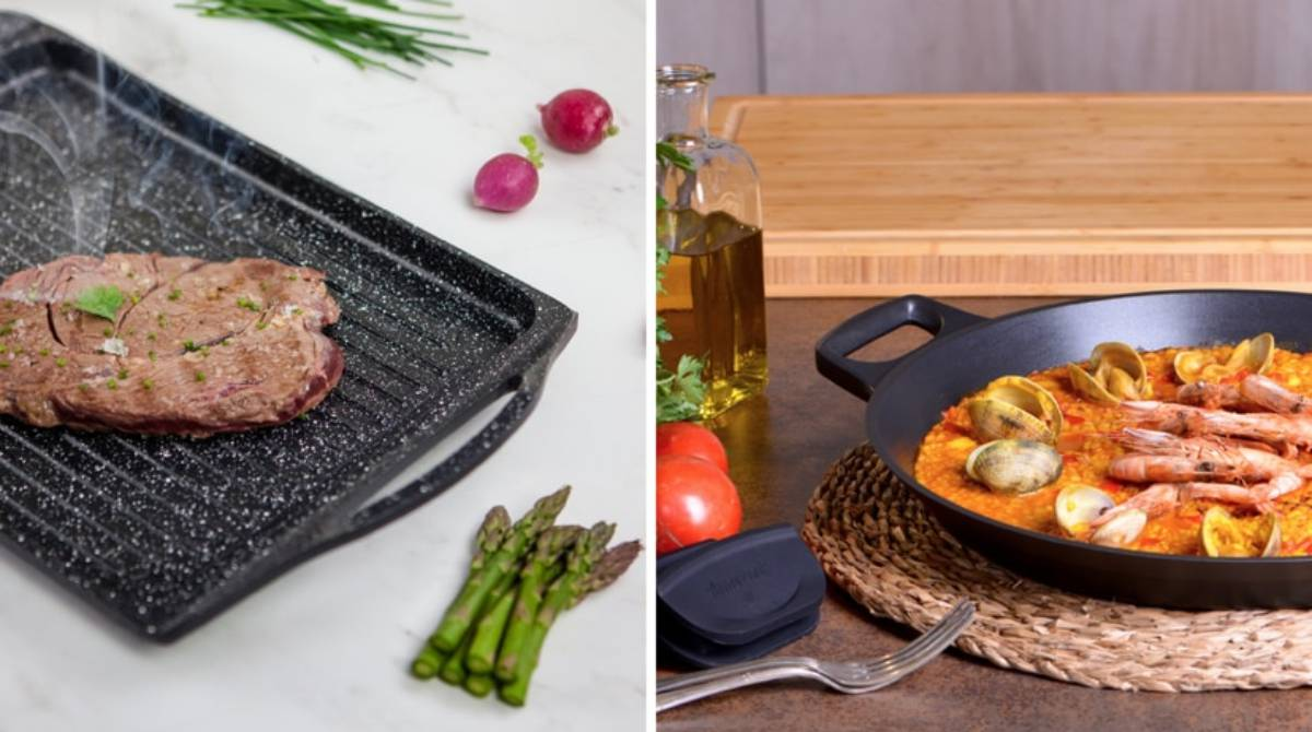 Cocina sana y con óptima adherencia: así son las paelleras y parrillas de Amercook