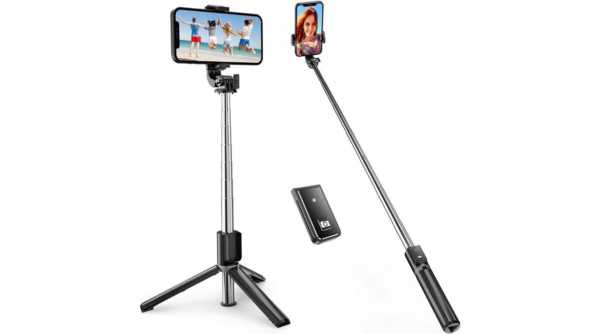 Palo selfi extensible con trípode por 9,34€