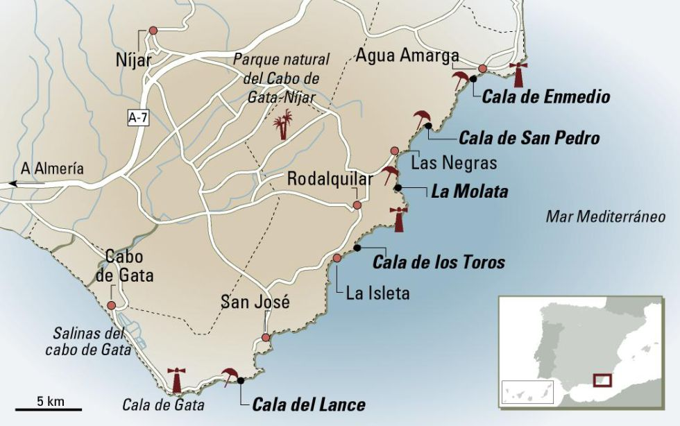 Cabo De Gata Mapa.Cabo De Gata Bathing Suits Optional In English El Pais