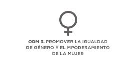 ODM 3. Promover la igualdad entre los sexos y el empoderamiento de la mujer