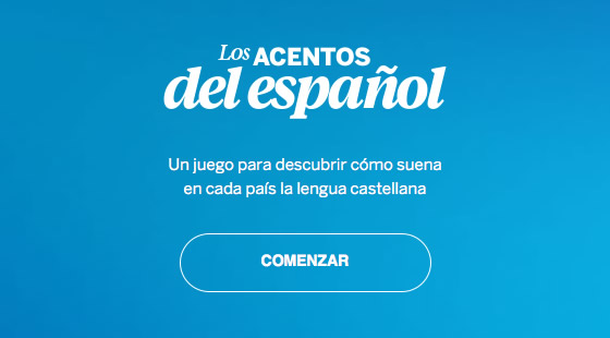 Los acentos del Español