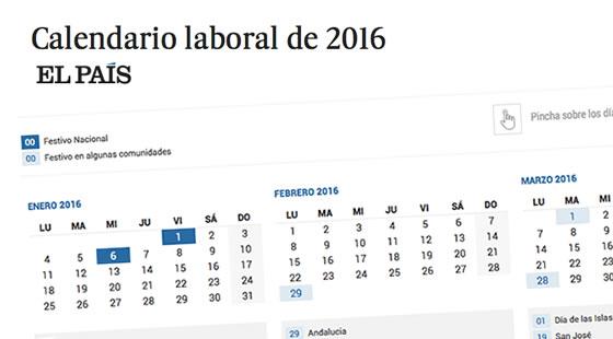 Calendario Laboral 2016 | EL PAÍS