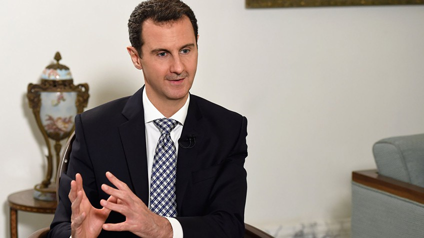 bashar al assad 80 countries support the terrorists in syria in