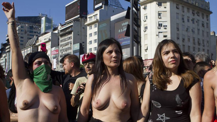 Protesters Say They Achieve More With Less Clothing