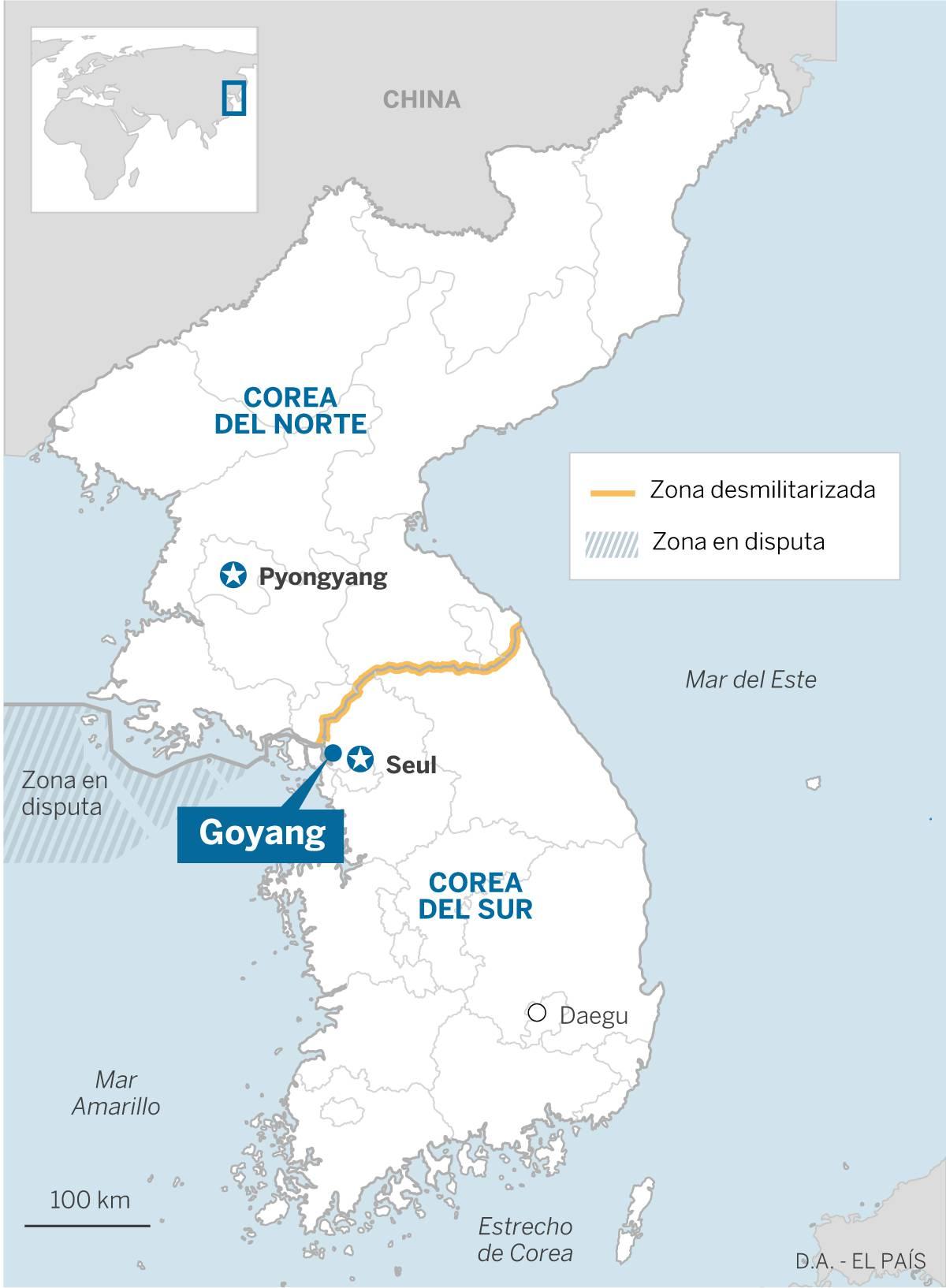 Guerra De Corea Mapa.La Guerra Larvada Entre Las Dos Coreas Internacional El Pais