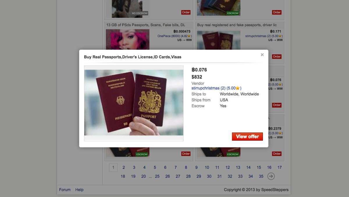 Así funciona el mercado ilegal de pasaportes en el \'Internet ...