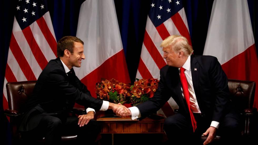 Macron llega a EE.UU. con el objetivo de evitar una guerra comercial y la ruptura del acuerdo nuclear con Irán