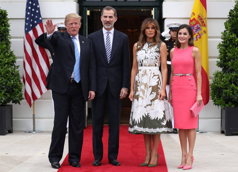 """f70cd2c3330d Spanish royals  Trump to Spanish monarchs at the White House  """"I ..."""