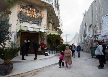 Banksy atrae nuevos peregrinos a Belén
