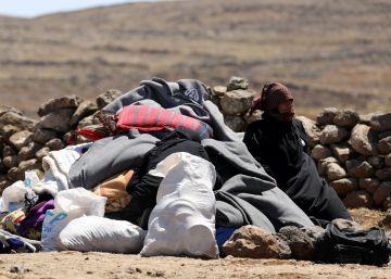 Una ofensiva de las fuerzas de El Asad en el sur de Siria provoca una nueva oleada de desplazados