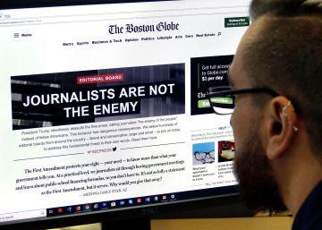 Trump redobla sus ataques a los medios tras la denuncia de más de 300 periódicos
