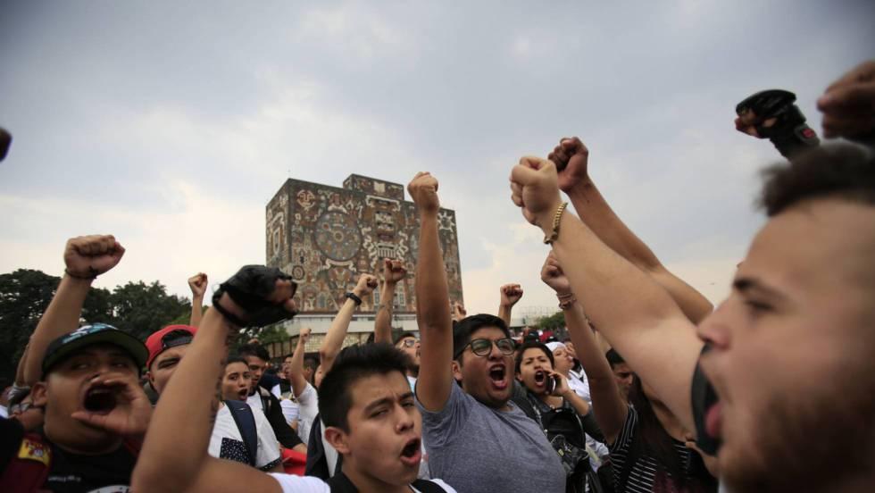 Marcha: La llama de la protesta estudiantil en México prende en la UNAM |  Internacional | EL PAÍS