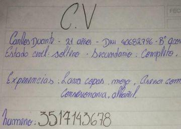 Un argentino consigue trabajo tras viralizarse su CV escrito a mano
