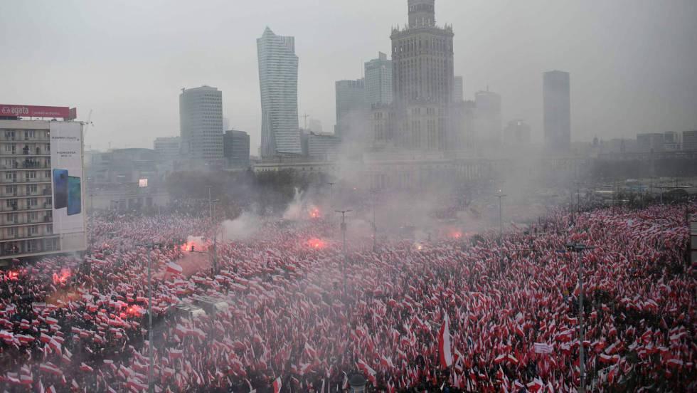 5edda0008 La Europa más ultra y nacionalista exhibe su fuerza en Polonia ...