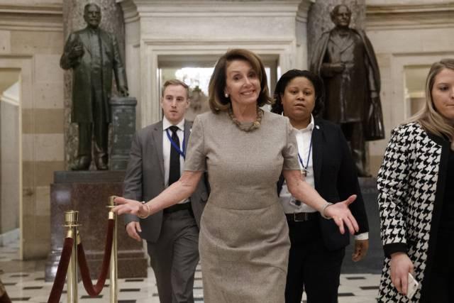 El muro de Trump era Nancy Pelosi