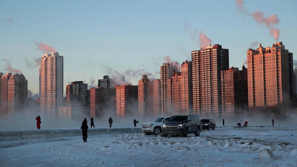 Chicago, cuando hace más frío que en la Antártida