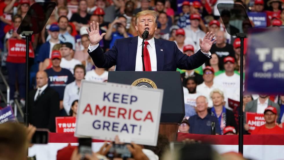 Resultado de imagen para trump discurso de campaña electoral