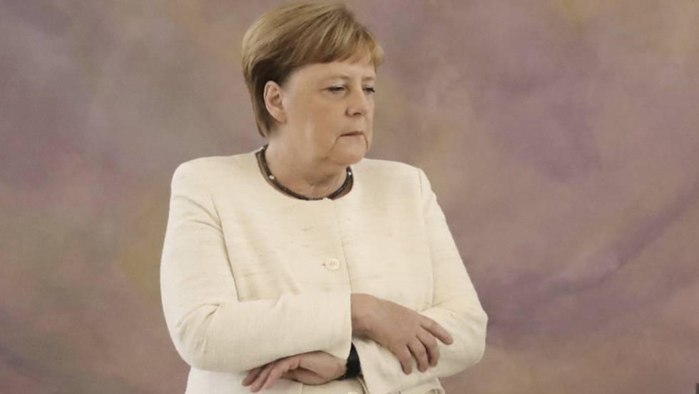 Preocupación por la salud de Angela Merkel debido a sus temblores