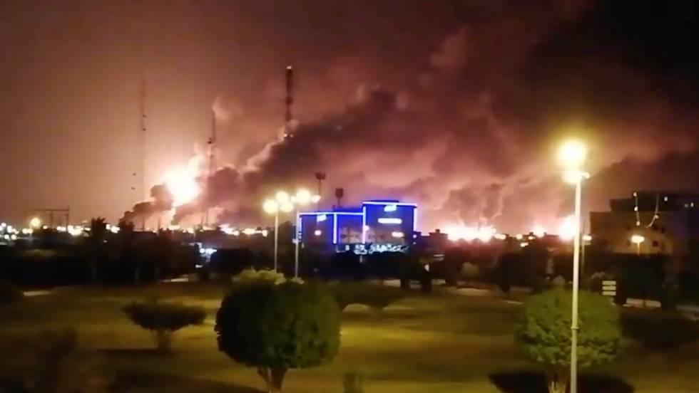 Arabia Saudí interrumpe la mitad de su producción de crudo tras un ...