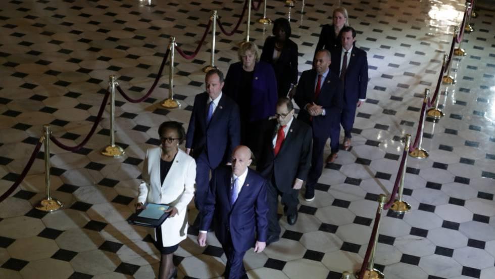 Resultado de imagen para Comienza el impeachment a Trump: la Cámara de Representantes elevó el juicio político al Senado