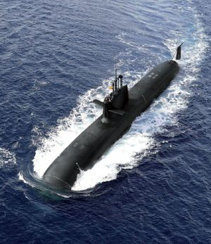 Imagen virtual del submarino S-80 facilitada por Navantia.