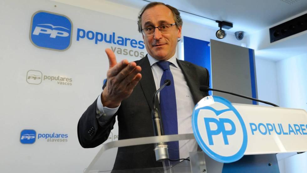 alfonso alonso será el candidato del pp a lehendakari españa el paÍs