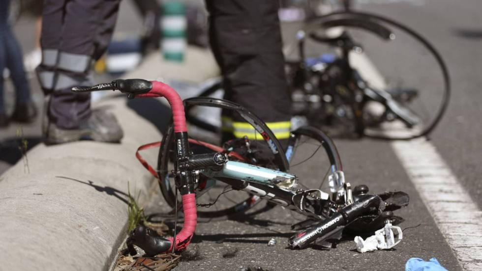 arrolladas por el ciclista