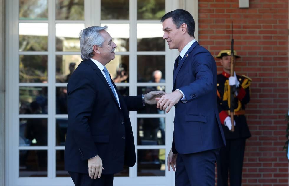 Sánchez respalda a Alberto Fernández en su renegociación de la deuda argentina con el FMI | España | EL PAÍS