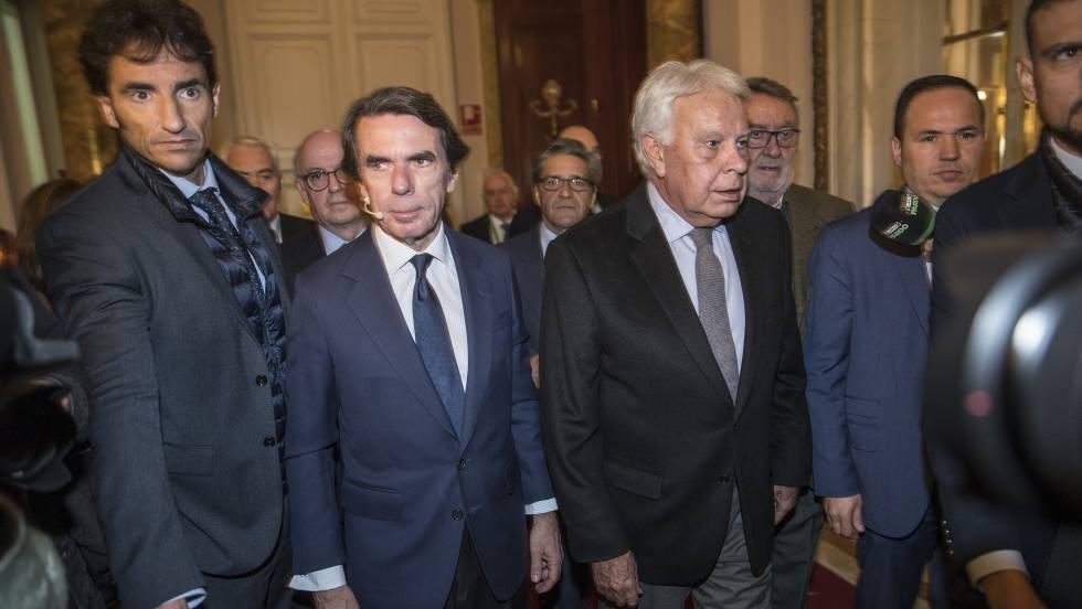 González Y Aznar Culpan A Los Extremismos De Romper Los Consensos De 1978 España El País