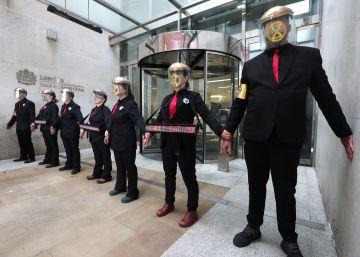 """La """"rebelión verde"""" desafía una vez más a Londres antes de poner fin a una semana de protestas"""
